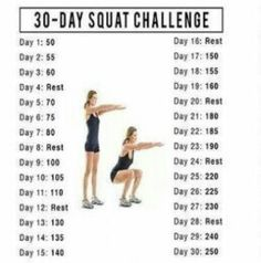I started this 30 day squat challenge,  im on day 18 155 try it :)