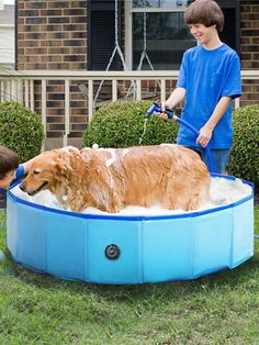 I found this amazing Pvc Pet Pool Collapsible Dog Bath Tub Outdoor Portable Paddling Bath Cat And Dog Cleaning Supplies with US$41.99,and 14 days return or refund guarantee protect to us. --Newchic Dog Swimming Pools, Children Swimming Pool, Dog Pools, Dog Bath Tub, Cat Bath, Bath Tubs, Baby Pool, Kid Pool, Puppy Pool