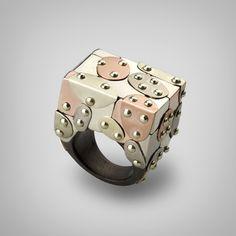 Ring   G.Kabirski Designs.  Gold and African blackwood.