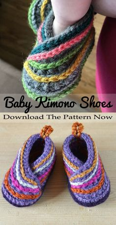 Kimono Baby shoes Crochet Pattern Make these cute shoes for a boy or girl! Kimono baby shoes crochet patterns - baby gift - crochet pattern pdf - Baby shoes Crochet Pattern Make these cute shoes for a boy or girl! Baby Shoes Pattern, Shoe Pattern, Baby Patterns, Kimono Pattern, Knitting Patterns Baby, Knitting Ideas, Knitting Projects, Crochet Projects For Beginners, Sewing Projects