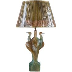 Daum Crystal Heron Lamp   From a unique collection of antique and modern table lamps at https://www.1stdibs.com/furniture/lighting/table-lamps/