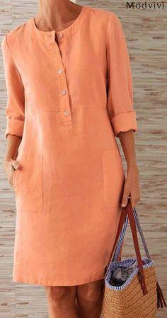 Shop Now> Only -- Plus Size Elegant Mini Dress # Outfits femme Shop Now> Only -- Plus Size Elegant Mini Dress Casual Dress Outfits, Mode Outfits, Dresses For Work, Summer Dresses, Plus Size Casual, Dress Sewing Patterns, Elegant Outfit, The Dress, Ideias Fashion