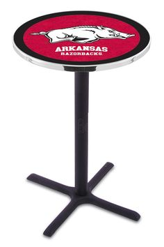 University of Arkansas X-Base Bar Table - Razorbacks
