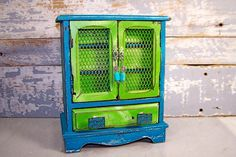 Painted Jewelry Box: Shabby Cottage Chic by SexyTrashVintage