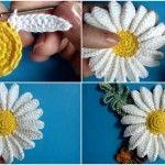 Crochet Camomilla Flower + Video