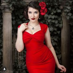 Such a stunning shoot from the beautiful wearing our Stop Staring! Vintage Goth, Flowers For You, Lady In Red, Formal Dresses, Celebrities, How To Wear, Outfits, Beautiful, Instagram