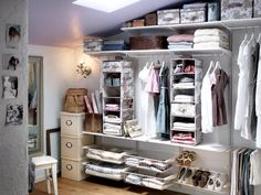 This is the closet I want. Natural light. Thanks IKEA for the idea...