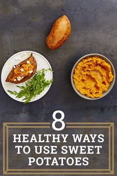8 healthy ways to use sweet potatoes. Delicious sweet potatoes are a non-starchy carbohydrate, so that means they count towards your 5-a-day veg and fruit tally! Here are a few healthy ways to enjoy them.