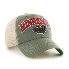check out 85e3b 52812 Minnesota Wild 47 Brand Green Tuscaloosa Clean Up Adjustable Hat