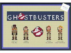Ghostbusters Female Team 2016 Cross Stitch DIGITAL by knottybytes