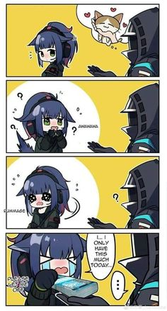 Girls Anime, Anime Art Girl, Cute Comics, Funny Comics, Comic Anime, Mini Comic, Anime Furry, Short Comics, Cute Chibi