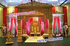 #Wedding #Golden #Carved #Bollywood #Mandap #Dstexports