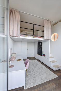 Small Room Design Bedroom, Kids Bedroom Designs, Home Room Design, Room Ideas Bedroom, Home Interior Design, Loft Design, Small House Design, Awesome Bedrooms, Unique Teen Bedrooms