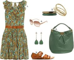 Green and brown in a lovely combination