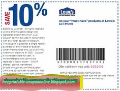 Free Printable Lowes Coupons Home Improvements Coupon Printables