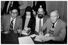 Beat Generation -  Carl Solomon, Patti Smith, Allen Ginsberg and William S. Burroughs at the Gotham Book Mart, New York City, 1977