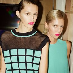 Look at these gorgeous ladies #JJSLee at #SS14 collection. Swooooon! #topshop #backstage #fashionweek #lfw
