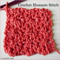 Crochet Blossom Stitch ~ Photo Tutorial