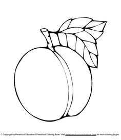 wwwpreschoolcoloringbookcom food coloring page - Peach Coloring Pages