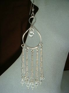 Glamorous Crystal Chandelier Earrings by AngiePinkal