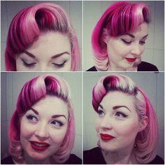 1) best pink dye job I've ever seen, 2) most natural Marilyn-do <3 @Diablo Rose