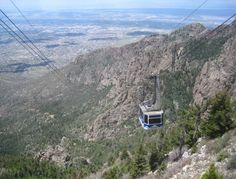 The Sandia Peak Tramway in Albuquerque, New Mexico. I hiked up here from the Tree Spring Trailhead on 6/6/15. My photos and write-up: http://coloradoguy.com/tree-springs-trail/hike-to-tram.htm