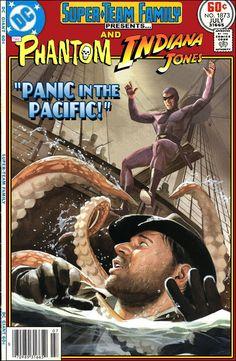 Super-Team Family: The Lost Issues!: The Phantom and Indiana Jones Dc Comics, Marvel Comics Superheroes, Marvel Vs, Funny Comics, Comic Book Characters, Comic Character, Comic Books Art, Comic Art, Book Art