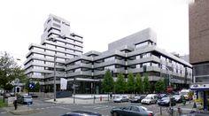 WestLB Offices - 1969-75 by Harald Deilmann - #architecture #googlestreetview #googlemaps #googlestreet #germany #düsseldorf #brutalism #modernism