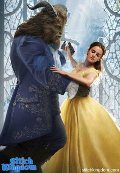 First Official Stills Of Emma Watson As Belle And Dan Stevens Beast In Disneys Beauty The