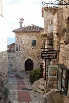 This is the village of Ez. One of the very quaint places we visited on a trip through Italy, France and Monaco. Places Around The World, Oh The Places You'll Go, Travel Around The World, Places To Travel, Travel Destinations, Places To Visit, Around The Worlds, Eze France, Ville France