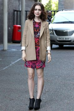 Our Favorite Back-to-School Outfit Ideas from Celebs: Lily Collins