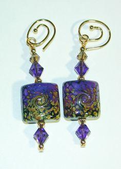 JBB Purple RAKU Nugget Art Bead by JensenBeachJewelry on Etsy, $22.00