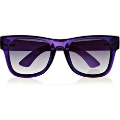 Le Specs + Henry Holland Blinders square-frame acetate sunglasses ($43) ❤ liked on Polyvore featuring accessories, eyewear, sunglasses, purple, purple sunglasses, le specs sunglasses, square frame glasses, square frame sunglasses and uv protection sunglasses