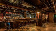 Downtown LA's New Basement Bar Is a World War II-Era Party Bunker - Eater LAclockmenumore-arrow : The return of a classic underground lounge Basement Bar Plans, Basement Bar Designs, Los Angeles Restaurants, Downtown Los Angeles, Bunker, Speakeasy Restaurant, Restaurant Design, Underground Bar, Waterfall House