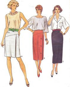 80s Very Easy Very Vogue Sewing Pattern 9250 Womens by CloesCloset