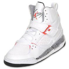 Jordan Kids' Flight 45 Basketball Shoes  White/Siren Red/Black/Stealth  $89.99