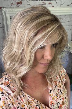 Partial Blonde Highlights, Platinum Blonde Highlights, Platinum Blonde Hair Color, Blonde Color, Medium Shag Haircuts, 350 Degrees, Beachy Waves, Luxury Hair, Hot Blondes