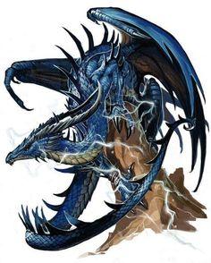 Ancient Blue Dragon by Ben Wooten @ deviantart