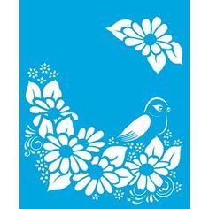 stencil de flores - Buscar con Google                                                                                                                                                                                 Más