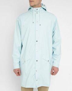 #Impermeabile blu con cappuccio in tinta unita  ad Euro 95.00 in #Rains #Abbigliamento cappotti giacconi