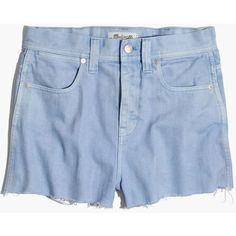 Madewell x Where I Was From™ High-Rise Jean Shorts ($80) ❤ liked on Polyvore featuring shorts, fragile peri, cut-off jean shorts, cutoff jean shorts, cut-off shorts, denim shorts and high waisted cut off shorts