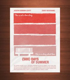 500 Days of Summer Poster (personal project) | Illustrator: Kristian Hay - http://www.behance.net/kristianhay