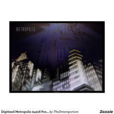 Digitized Metropolis 24x18 Poster