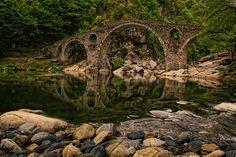 "Дяволският мост (Шейтан кюприя),град Ардино близо до село Дядовци.  ""Devil's Bridge"", town of Ardino in the Rhodope Mountains."