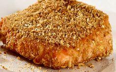 Receita de salmão com crosta de farelos para a fase ataque dukan.