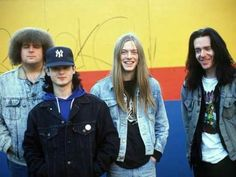 First Napalm Death line up. Bill Steer with a big smile ...