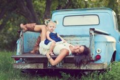 cute mom and baby pose