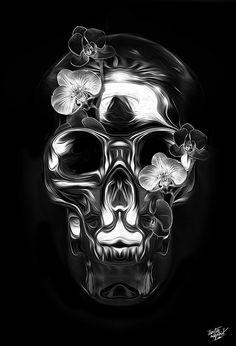 FANTASMAGORIK® METALLIC FACE SKULL 1 by obery nicolas, via Behance