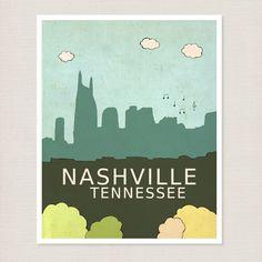 Children Decor Music City  Nashville by LisaBarbero on Etsy