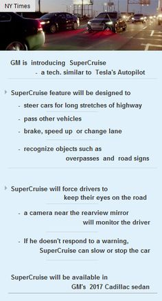 GM's #SuperCruise is a competing with Tesla #Autopilot #Automobiles #Startup #funding #vc http://arzillion.com/S/psxbW2